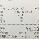 レギュラーガソリン、110円を下回る・・・